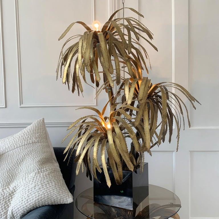 20th Century Maison Jansen Palm Tree Lamp, 1970s For Sale