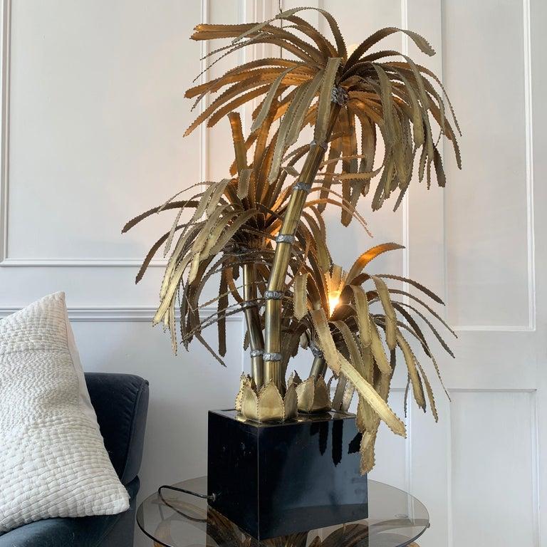 Maison Jansen Palm Tree Lamp, 1970s For Sale 1