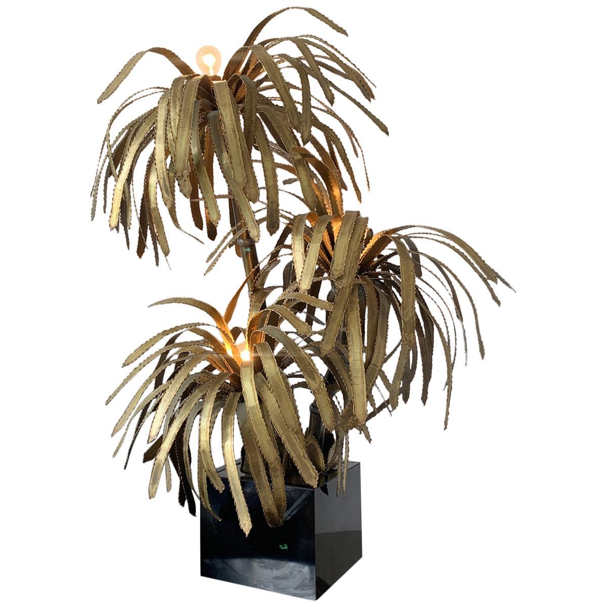 Maison Jansen Palm Tree Lamp, 1970s