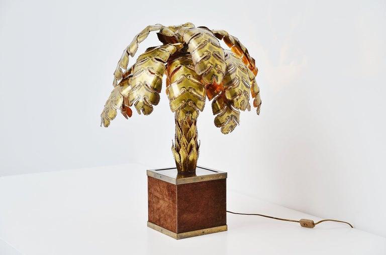 Maison Jansen Palm Tree Table Lamp, France, 1970 For Sale 1
