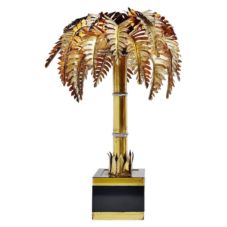 Palm Tree Table Lamp France 1970