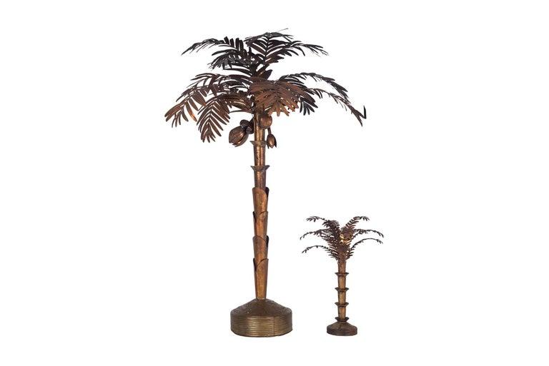 Maison Jansen Palmtree Floor Lamp in brass For Sale 3