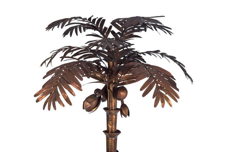 Maison Jansen Palmtree Floor Lamp in brass In Good Condition For Sale In Antwerp, BE