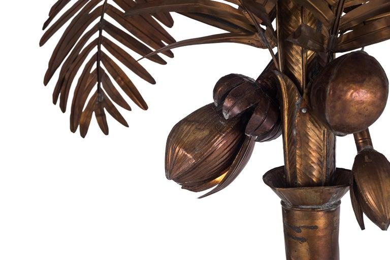 Maison Jansen Palmtree Floor Lamp in brass For Sale 1