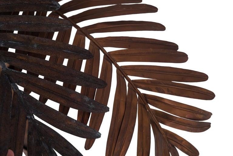 Maison Jansen Palmtree Floor Lamp in brass For Sale 2