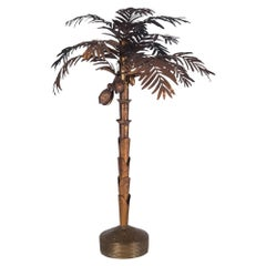 Maison Jansen Palmtree Floor Lamp in brass