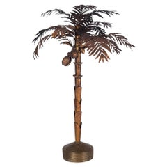 Maison Jansen Palmtree Floor Lamp in Brass