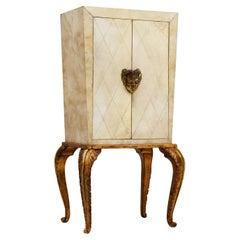 Maison Jansen Rare Art Deco Cabinet with Parchment