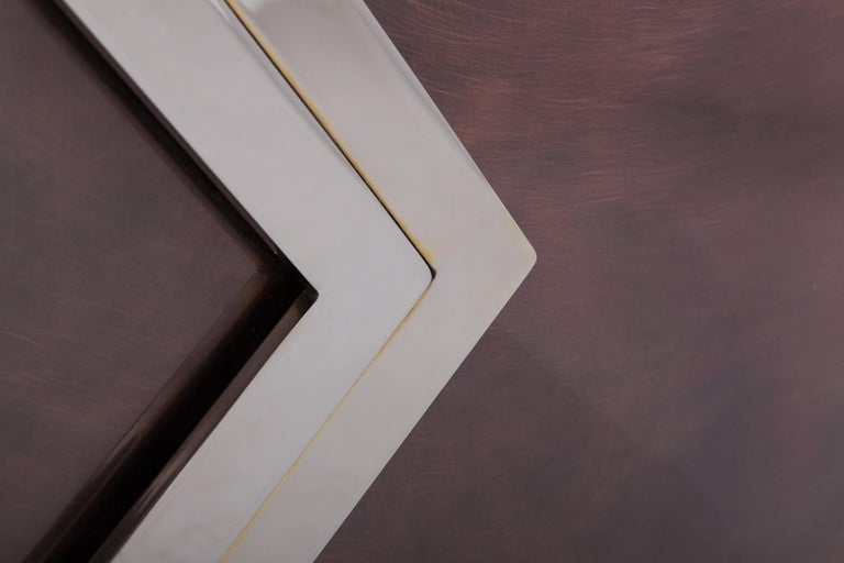 Maison Jansen Rose Metal Credenza For Sale 3
