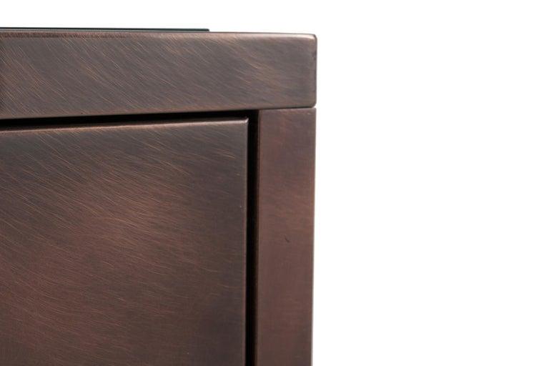Maison Jansen Rose Metal Credenza For Sale 4