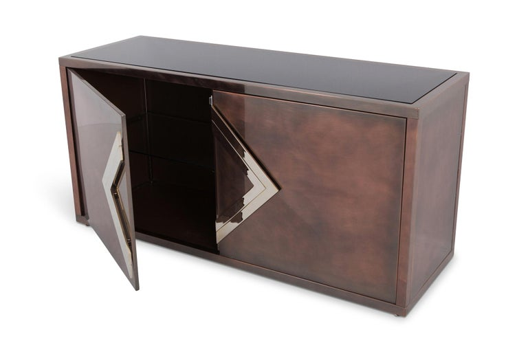 Maison Jansen Rose Metal Credenza In Good Condition For Sale In Antwerp, BE