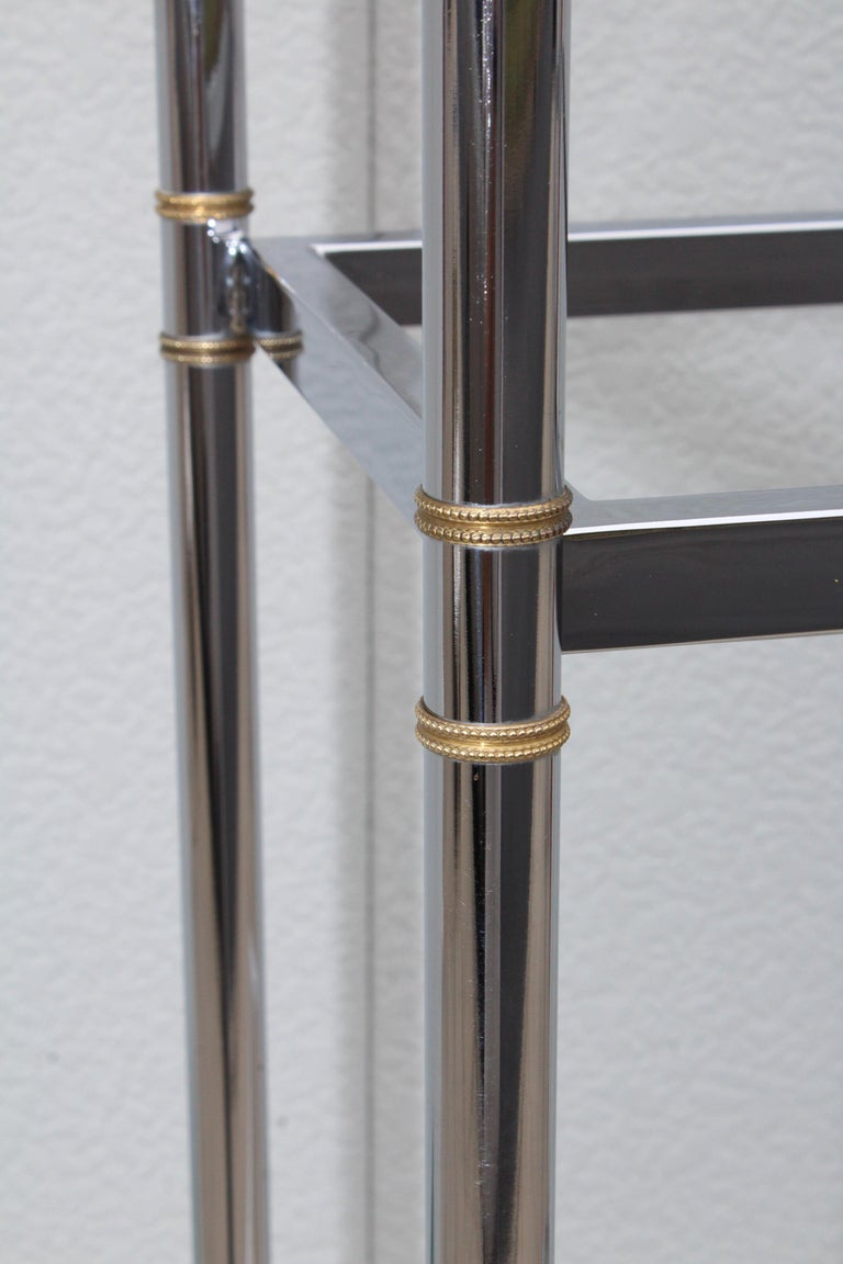 Maison Jansen Style Chrome and Brass Etagere For Sale 3