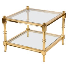 Maison Jansen Style French Brass Side Table, 1960s