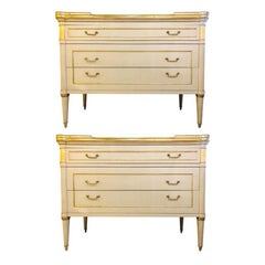 Maison Jansen Style Hollywood Regency Commodes, Dressers, Nightstands, a Pair