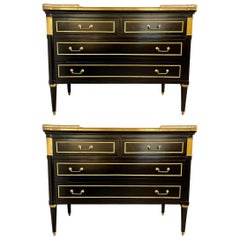 Maison Jansen Style Hollywood Regency Commodes or Chests / Nightstands a Pair