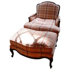 ON SALE NOW! Maison Jansen Style Louis XV Bergère Chair and Ottoman