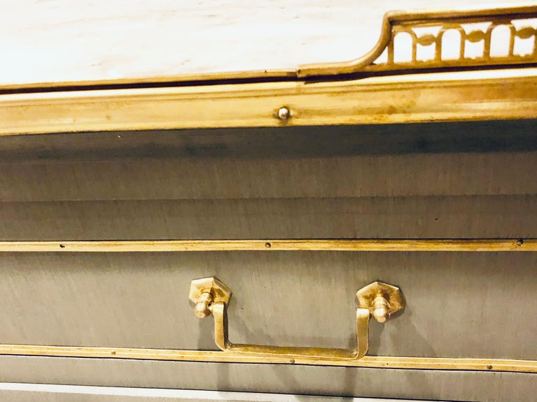 Maison Jansen Style Louis XVI Painted Commodes, Chests or Nightstands a Pair  For Sale 10