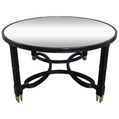 Maison Jansen Style Mirrored Top Coffee Table