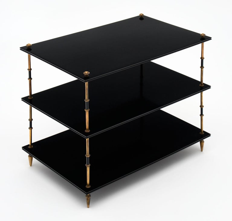 Mid-Century Modern Maison Jansen Three Tiered Side Tables