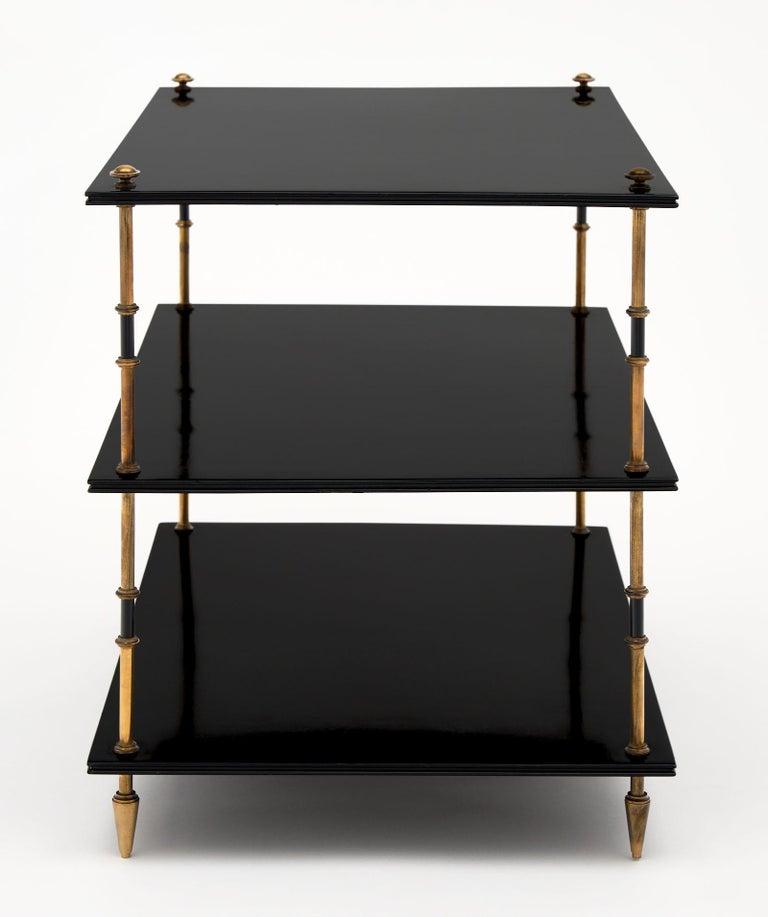 Wood Maison Jansen Three Tiered Side Tables