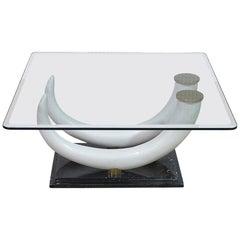 Maison Janson Glass Top Coffee Table