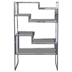 Maison Jensen Chrome Shelving/1970s French Shelving