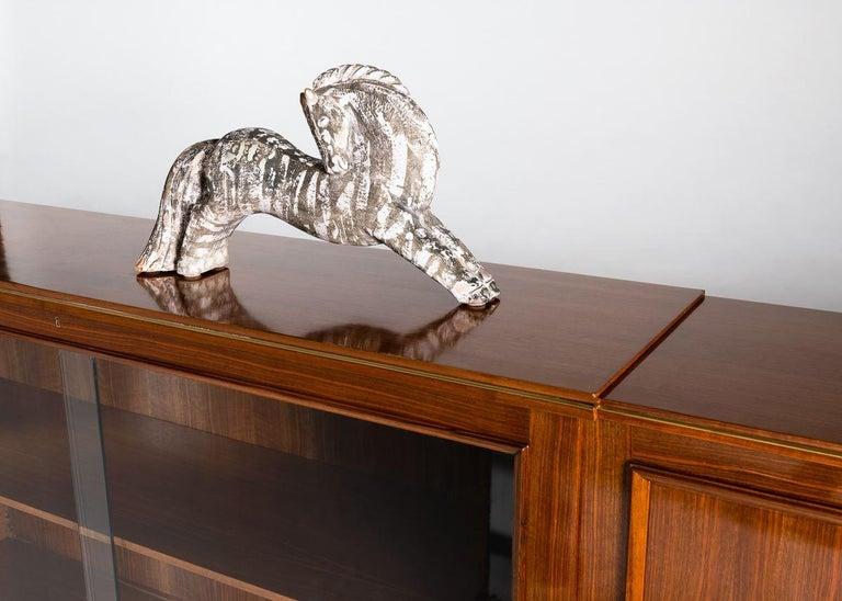 Bronze Maison Leleu, Sideboard Cabinet, France, 1956 For Sale