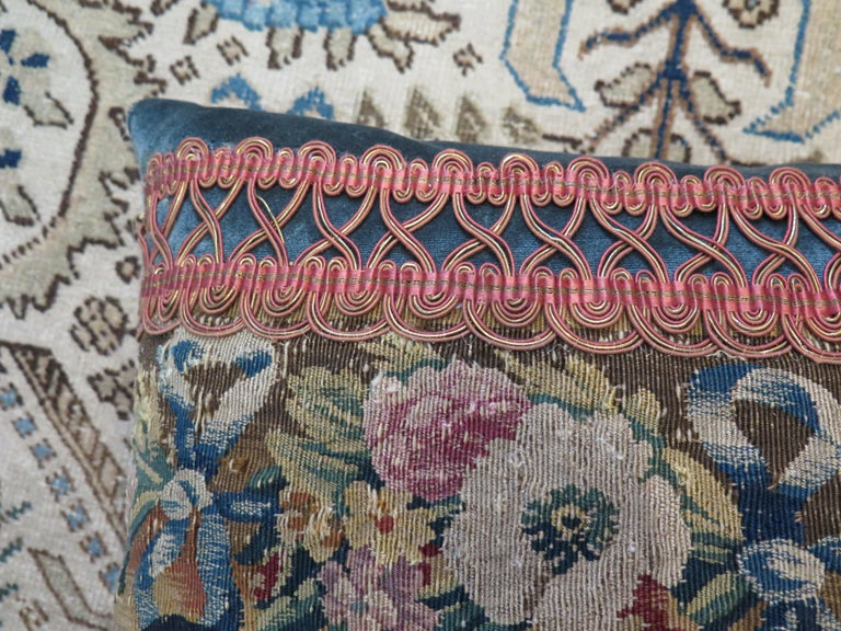 Maison Maison 18th Century Tapestry Pillow In Good Condition For Sale In Houston, TX