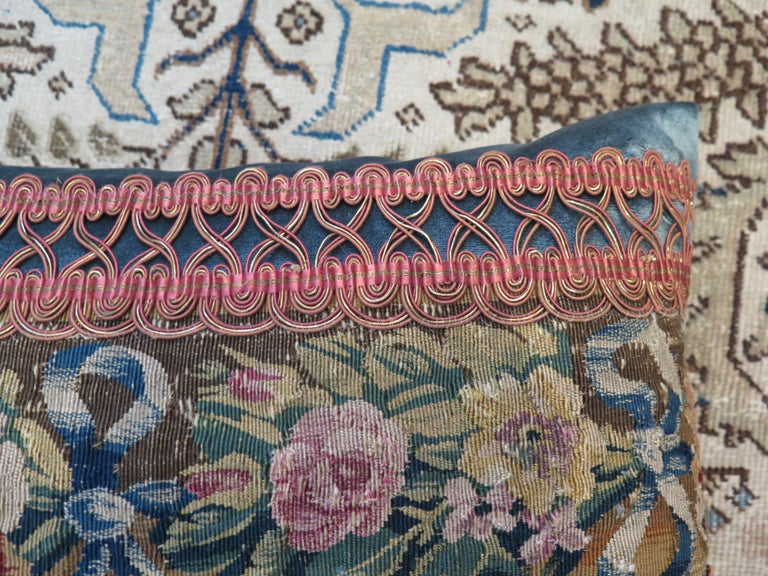 18th Century and Earlier Maison Maison 18th Century Tapestry Pillow For Sale