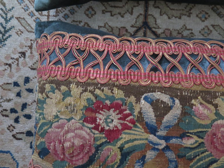 Maison Maison 18th Century Tapestry Pillow For Sale 4