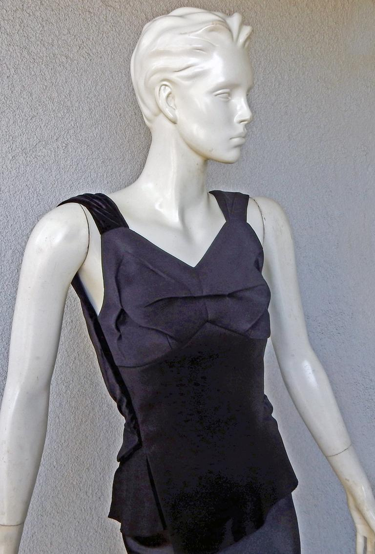 Maison Margiela Black Orchid Bias Gown with Open Back  New! In New Condition For Sale In Los Angeles, CA