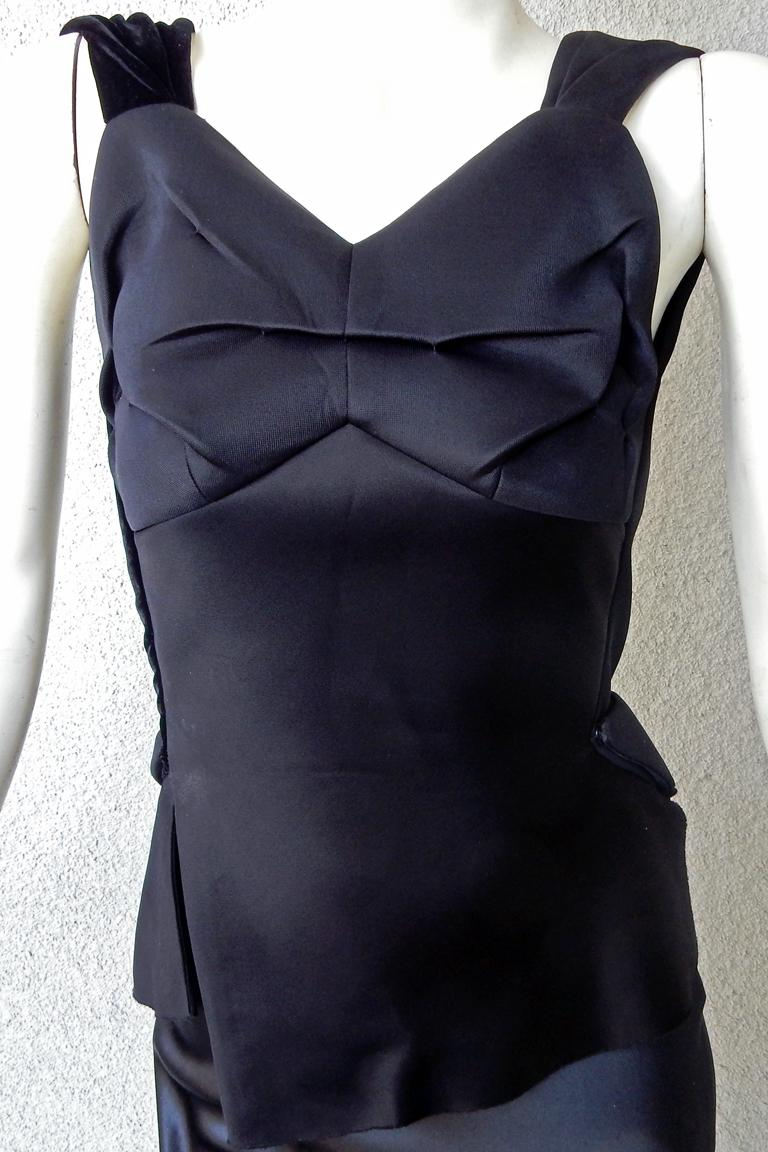 Women's Maison Margiela Black Orchid Bias Gown with Open Back  New! For Sale