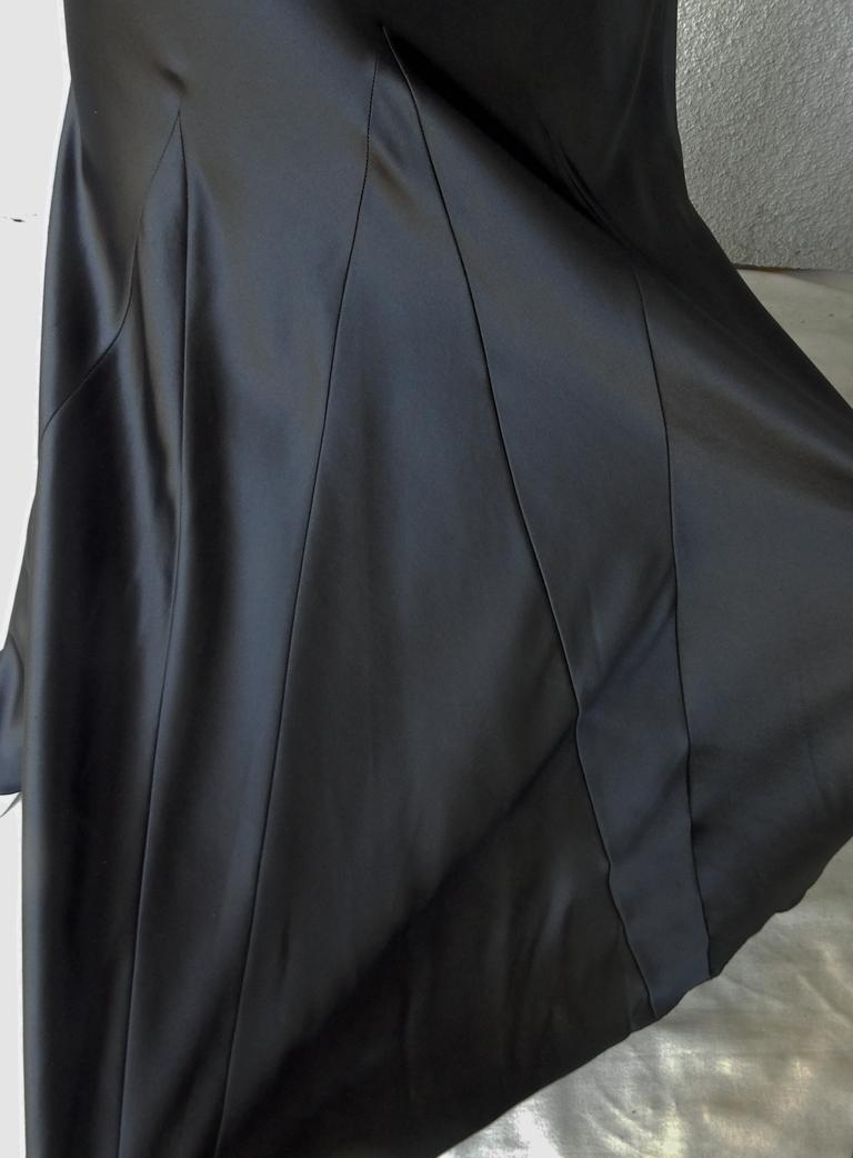 Maison Margiela Black Orchid Bias Gown with Open Back  New! For Sale 1