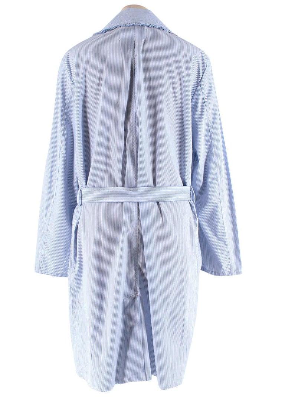 Women's or Men's Maison Margiela Blue Striped Cotton-Poplin Shirt Dress US6 For Sale