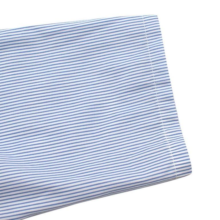 Maison Margiela Blue Striped Cotton-Poplin Shirt Dress US6 For Sale 3