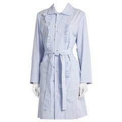Maison Margiela Blue Striped Cotton-Poplin Shirt Dress US6