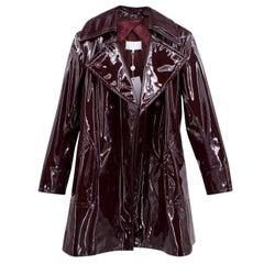 Maison Margiela Burgundy Patent Trench Coat