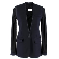 Maison Margiela Navy Deconstructed Wool Blazer  36 IT