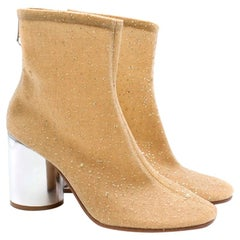 Maison Margiela Nude Crystal Sock Ankle Boots 40