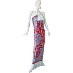 Maison Margiela Rare Beaded Tapestry Runway Dress Gown   New