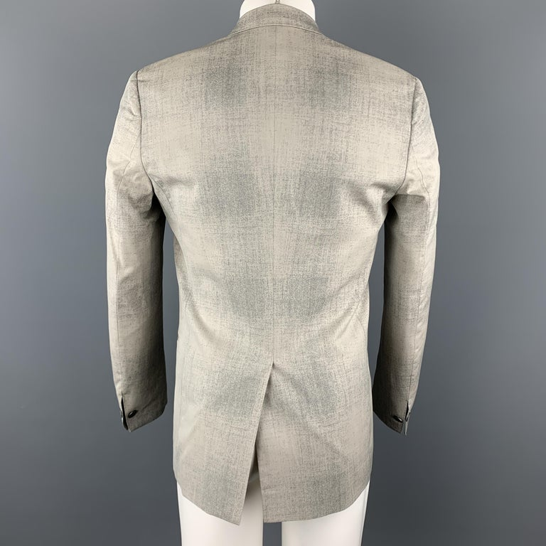 Men's MAISON MARGIELA Sartorial Size 38 Gray Marbled Wool Peak Lapel Double Breasted S For Sale