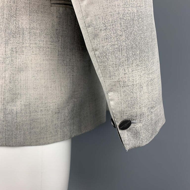 MAISON MARGIELA Sartorial Size 38 Gray Marbled Wool Peak Lapel Double Breasted S For Sale 1