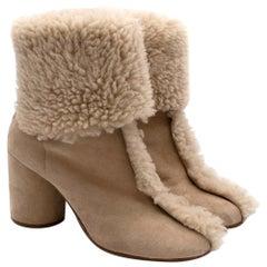 Maison Margiela Sheepskin Nude Boots 39.5