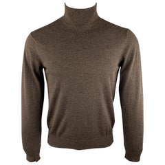 MAISON MARGIELA Size 38 Brown Knitted Wool Turtleneck Pullover Sweater