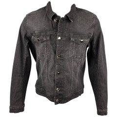 MAISON MARGIELA Size L Charcoal Cotton Trucker Jacket