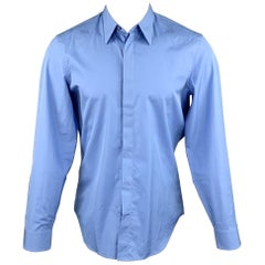 MAISON MARGIELA Size M Blue Cotton Button Up Long Sleeve Shirt