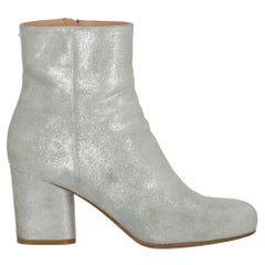 Maison Margiela Woman Ankle boots Silver Leather IT 39