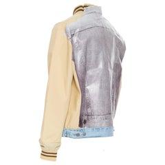 MAISON MARTIN MARGIELA ARTISANAL 1 Tromp Loeil denim print back bomber jacket S