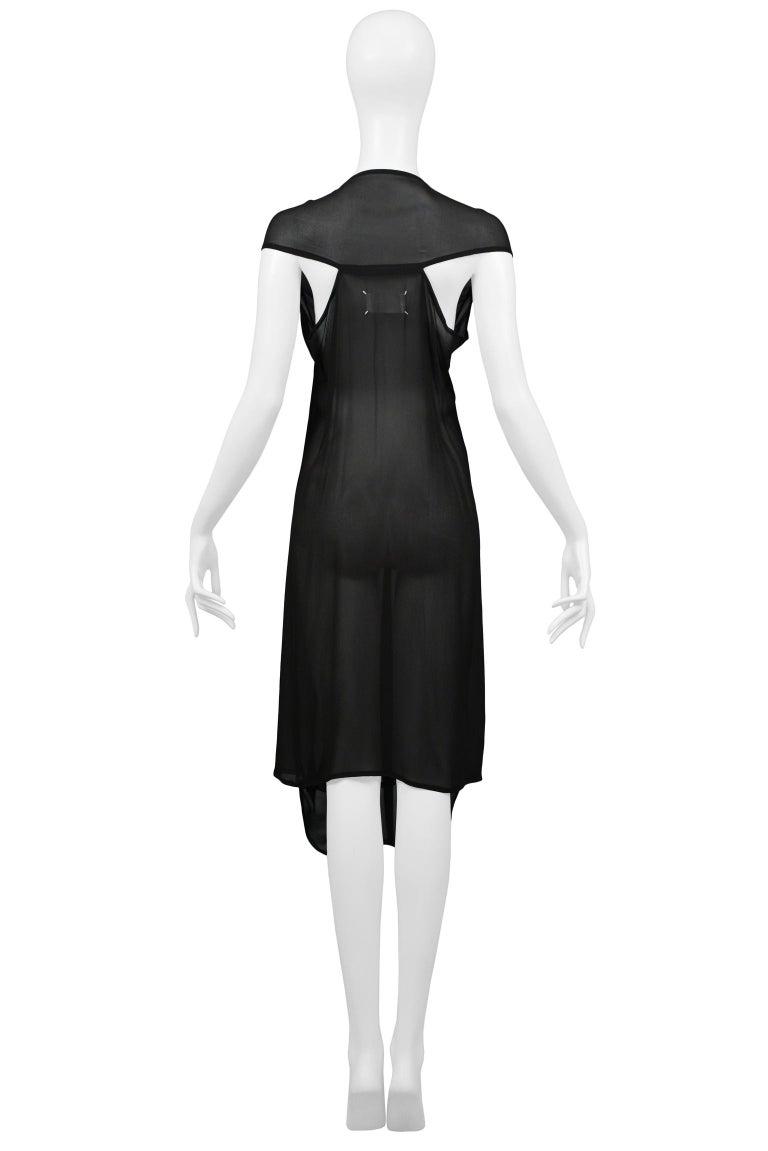 Women's Maison Martin Margiela Black Chiffon Car Seat Collection Dress 2006 For Sale