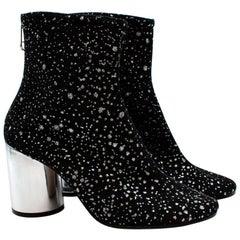Maison Martin Margiela Black Glitter Ankle Boots - Size 40